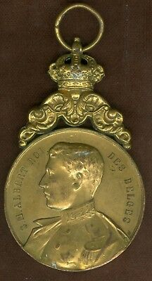 Undated Belgium Medal Issued to Honor King Albert I, by Town of Binche