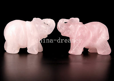 2 Exquisite Statue Powder Crystal Figurines Collection Ornamental Pendant