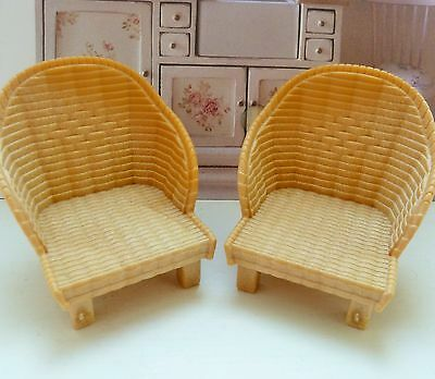 Sylvanian Families Spares * 2 X Basket Chairs * Combined P+P New!!