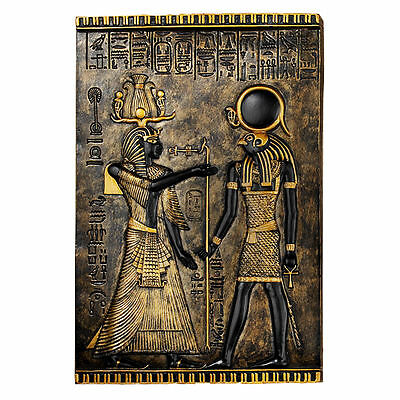 "Ancient Egypt Horus Falcon God Egyptian Horus 10"" Wall Plaque Sculpture NEW"
