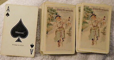 Vintage Pabst Beer Brewing Company Playing Cards Deck,52,ad advertising,Whitman