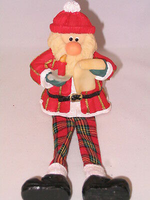 Country Rustic Handcrafted Slim Santa Claus Father Christmas Doll / Ornament