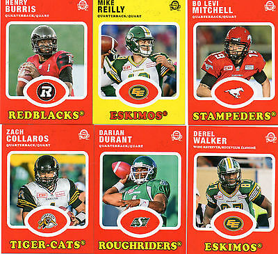 2016 Upper Deck CFL Retro Insert Complete Your Set Pick from the enclosed list