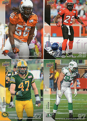 2014 Upper Deck CFL Defense Players Complete Your Set Pick from enclosed list