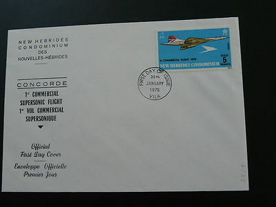 concorde first supersonic flight 1976 FDC New Hebrides (GB) 55272