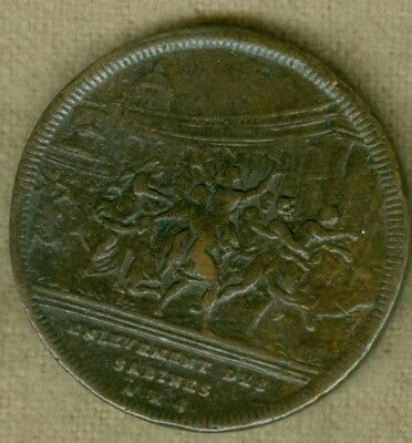 "1740 Swiss Medal for ""Rape of the Sabines,"" Engraved by J.A. Dassier"