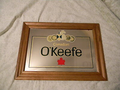 New Old Stock O'keefe Canadian Beer Mirror Sign Canada Maple Leaf Knight Shield