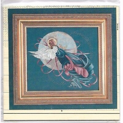 Lavender & Lace Victorian Designs Cross Stitch Chart / Pattern Blue Moon Angel