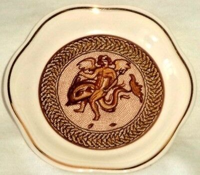 Royal Worcester Spode Palissy Pin Dish Classical Winged Nude On Dragon