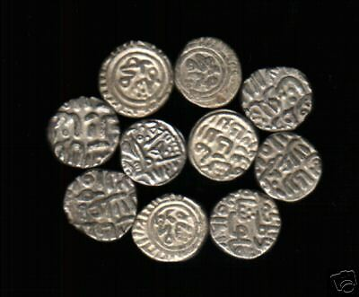 INDIA DELHI SULTAN 12th - 15th CENTURY SILVER COIN X 100 PCS ANCIENT INDIAN LOT