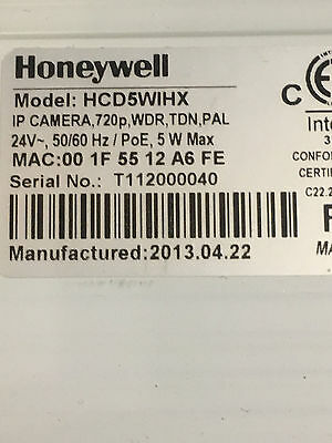 Honeywell Hcd5Wihx Poe 720P Cctv Ip Camera