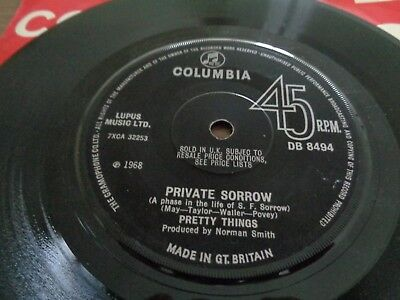 The Pretty Things - Private Sorrow. 1968 Columbia Records
