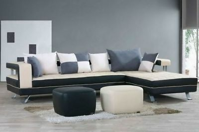 wohnlandschaft polster ecke eck sofa couch garnitur landschaft leder neu alfredb eur. Black Bedroom Furniture Sets. Home Design Ideas