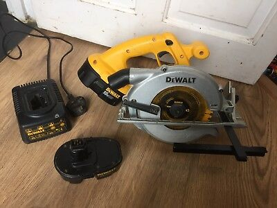 DeWalt DC390 18v Xrp Cordless Circular Saw With 2 Batteries And Charger