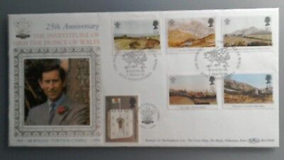 1994 BENHAM SILK FDC BLCS92b -  PRINCE OF WALES 25th INVEST - WINDSOR