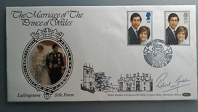 1981 Benham Signed Fdc  - Royal Wedding - Robert Goodden Of Lullingstone Silk Fm