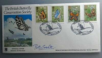 1981 Benham Signed Fdc Bocs (2)3 - British Buterflies - Peter Scott - Slimbridge