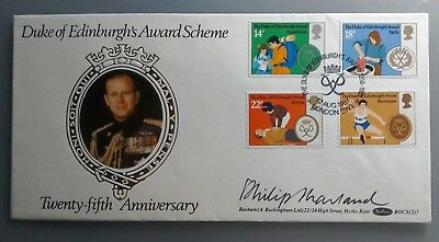 1981 Benham Signed Fdc Bocs(2)7 - Duke Of Edinburghs Awards - Philip Marland
