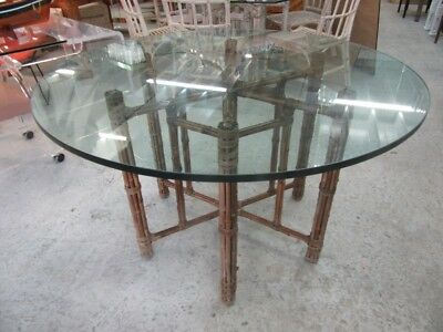 McGuire Round Bamboo Table Palm Beach Regency