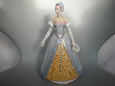 Large Sitzendorf Porcelain Figure Of Catherine De Medici Wife Of Henry Ii
