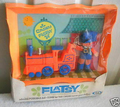 #8746 NIB Vintage Ideal Casey Flatsy with Train in Frame
