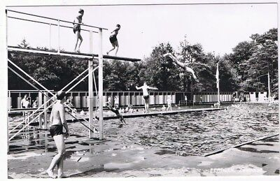 Holland Netherlands Postcard Eerbeek Zwembad Boys Swimming in Pool
