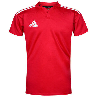 Adidas 3 Stripes Men's Rugby Jersey Kit Short Sleeve S M L XL Shirt g70048 NEW