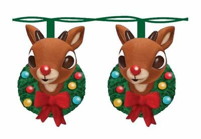 Rudolph the Red Nosed Reindeer Head with Wreath Christmas Light Set RU9142 New