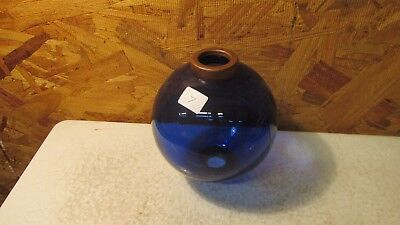 Antique Lightning Rod Ball Cobalt Blue Plain Round  No. 7