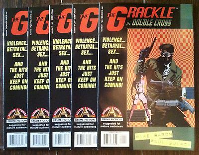 Acclaim Comics: Lot (5) of The Grackle In Double Cross #1  (Jan 1997)