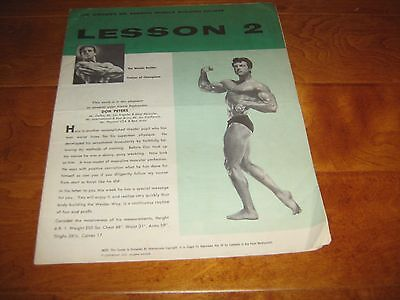 Rare Joe Weider Bodybuilding Lesson #2 Champion Muscle Course Don Peters 1957