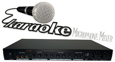Karaoke Converter Microphone Mixer For Your Home Theatre Amplifier - Karaoke At
