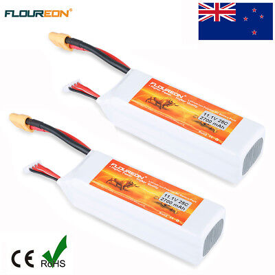 2x 3S 25C 11.1V 2700mAh LiPo Battery XT60 for RC Quadcopter Helicopter Car Truck