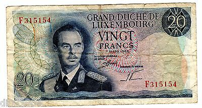 Luxembourg / LUXEMBURG Ticket 20 Francs 1966 P54 KING GOOD CONDITION
