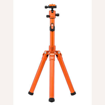 MeFoto GlobeTrotter Air Orange Aluminum Travel Tripod / Selfie Stick Kit