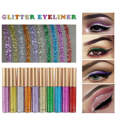 Makeup  Shiny Smoky Eyes Eyeshadow Waterproof Glitter Liquid Eyeliner