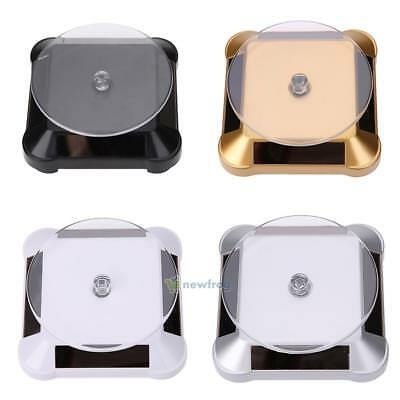 360° Rotating Solar Power Jewelry Phone Watch Display Table Top Stand Holder