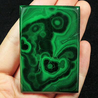 308CT 100% Natural Rarely seen Bull's Eye Green Malachite Cab Pendant SMA396