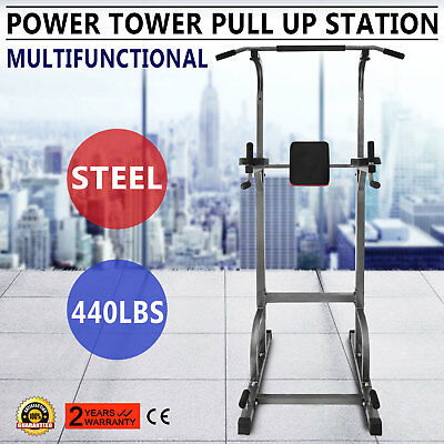 Power Tower 770lb Height Adjustable Station Heavy Duty Chin Up Multi-Station
