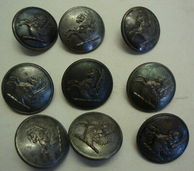 Set of 9 19th century military? silver plate buttons by FIRMIN & SONS London