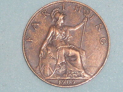 768) EDWARD VII FARTHING 1909 £3.50 FREE UK POST Box One