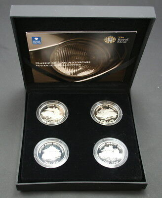2009 Alderney Classic British Motorcars Four-Coin Collection