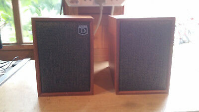 "vinatge small DYNATRON LS1018 SPEAKERS 8"" tall"