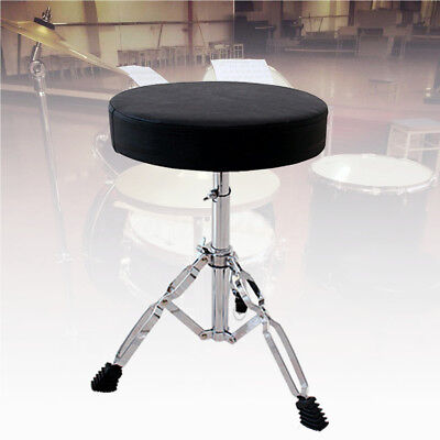 Drum Throne Keyboard Padded Seat Drummers Stool Stand Chair Percussion Hardware