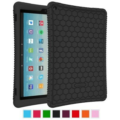 Fintie Silicone Case for All-New Amazon Fire HD 10 Tablet (7th Generation, 2017)