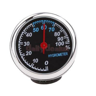 Car Dash Self Adhesive Analog Hygrometer Round Decoration