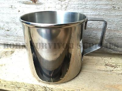 ZEBRA 8cm STAINLESS STEEL MUG 400ml Metal Cup Bushcraft Survival Camping Canteen