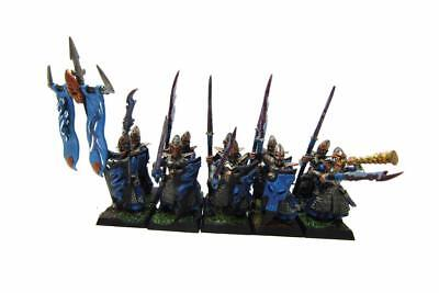 Warhammer Fantasy Age Of Sigmar Aelfs Dark Elves Dreadspears Regiment (w5416)