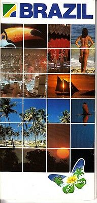 "Brazil ""Fly to Brazil"" Brazilian Tourist Board 2001 Vintage Booklet"