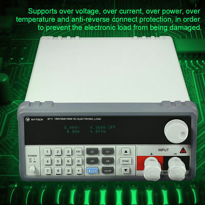150W Programmable Electronic Load Battery Voltage Current Power DC Tester RS232